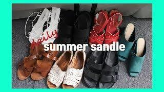 daily summer sandle | 나의 데일리 여…