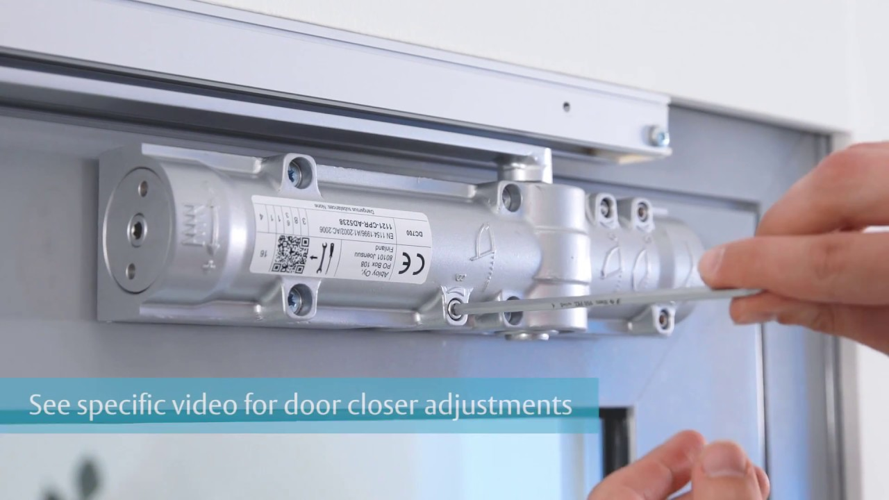 Assa Abloy Dc700g Co Door Closer Installation Guide Youtube