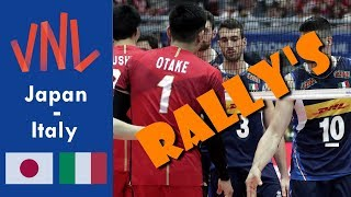 TOP 5 RALLY's Japan - Italy (Nations League Men)