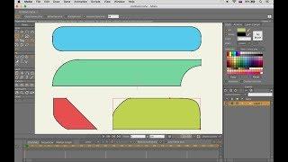 Инструмент ускоряющий создание FLAT-анимации в Anime Studio Pro (Moho). Быстрое скругление шейпов