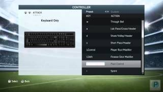 FIFA 14 Controls for PC Keyboard