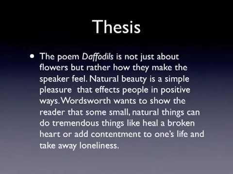 analysis of poem daffodils