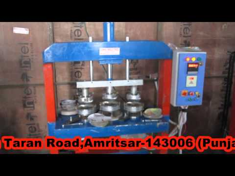 Automatic hydraulic paper plate making machine by Sokhi Industries 09646550402 ,09463446551