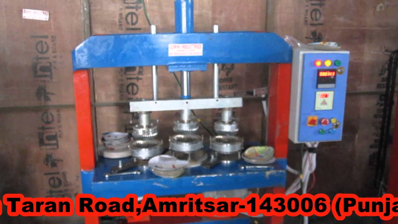 Automatic hydraulic paper plate making machine by Sokhi Industries 09646550402 09463446551 - YouTube & Automatic hydraulic paper plate making machine by Sokhi Industries ...