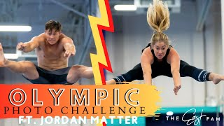 recreating OLYMPIC gymnastics PHOTOS challenge w/ JORDAN MATTER *surprising* | the east family