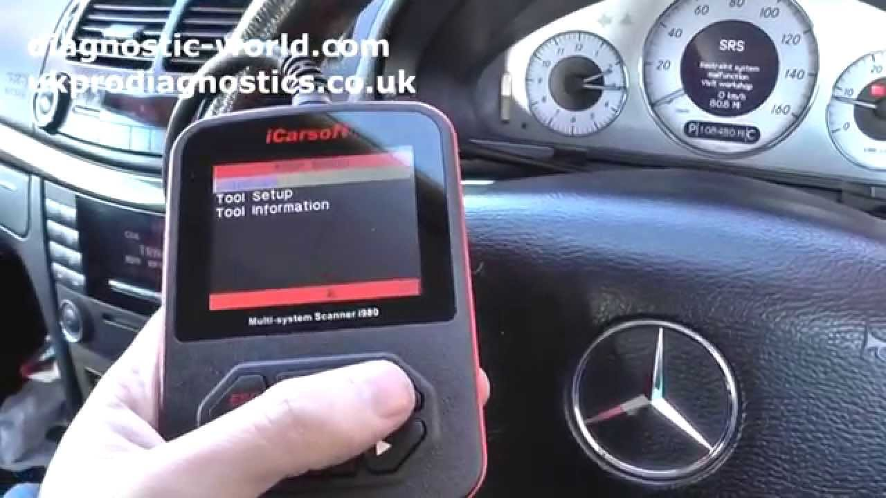 iCarsoft i980 Resets Mercedes SRS Airbag Warning Light  YouTube