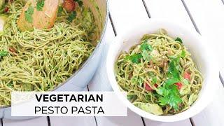 How To Make Pesto Pasta | Edamame Spaghetti | Healthy, QUICK & EASY, VEGETARIAN, Gluten-Free & Vegan