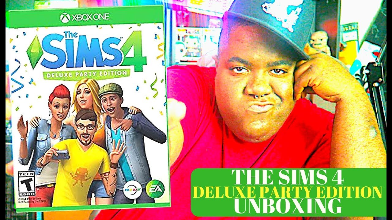 The Sims 4 Deluxe Party Edition Xbox One Unboxing Youtube