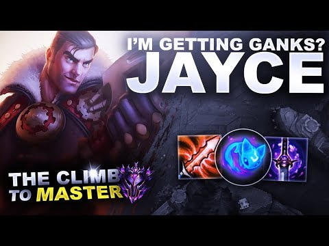 I'M GETTING GANKS? JAYCE! - Climb to Master S9 | League of Legends