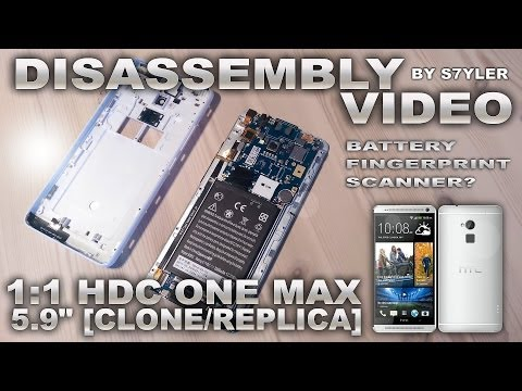 "How To Disassembly HDC One MAX 5.9"" 1:1 Replica (Backcover & Battery) / HTC One MAX"