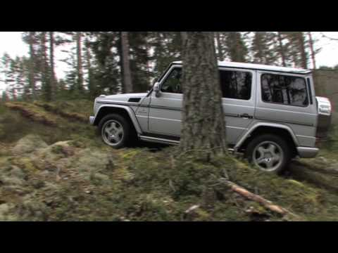 Mercedes-Benz Geländewagen G55 AMG offroad testdriving (in the woods of Norway)