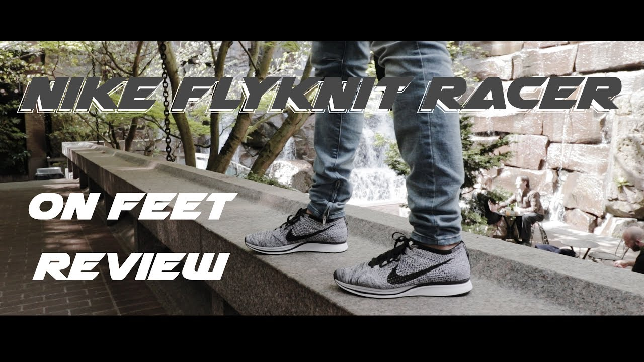 51bf53129613 Nike Air Flyknit Racer Oreo V1 Review + DOPE ON FEET - YouTube