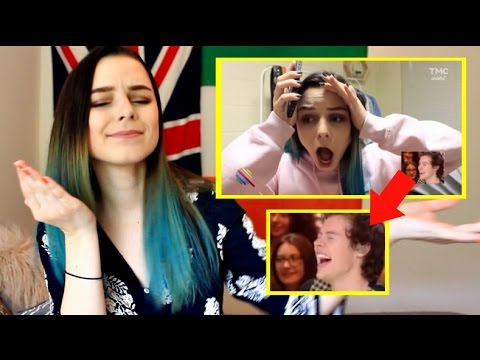 REACTING TO HARRY STYLES REACTING TO ME