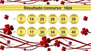 sorteio resultado dupla sena 1824 Palpite 1825
