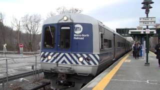 MNRR M3A Harlem Line Train Arriving at Bedford Hills