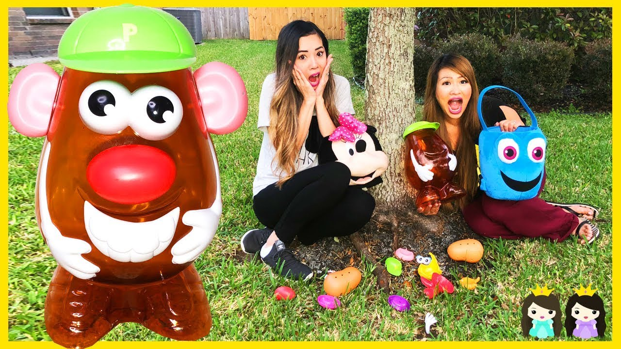Learn With Mr Potato Head Toy Hunt Outdoor Body Part Names For Kids With Princess Toysreview