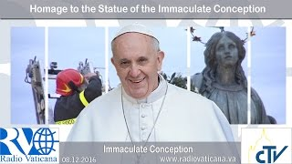 2016.12.08 Homage to the Statue of the Immaculate Conception