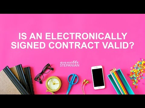 Is an Electronically Signed Contract Valid?