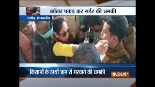 MP: Lady leader threatens survey officer to be killed by the hands of farmers at Damoh