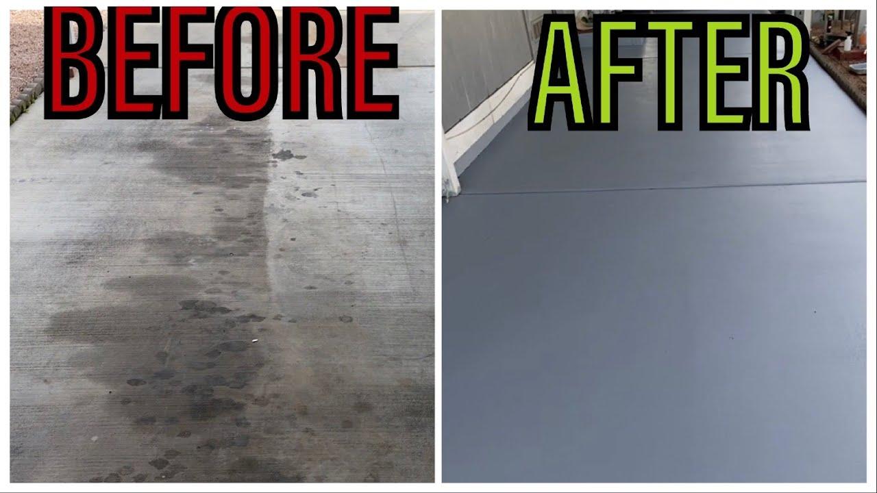 A Concrete Driveway Floor Easy