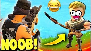 Funniest Clip In Fortnite Battle With Noob