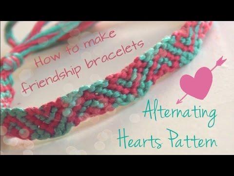 4465990ef9cb3 Alternating Hearts Pattern ♥ How To Make Friendship Bracelets