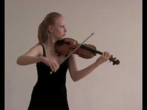 """Egene Ysaye sonata op.27 No.3, """"Ballade"""", Anna Markova-violin"""