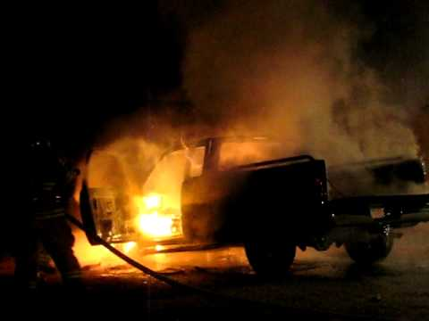 Truck Fire With Magnesium Explosion