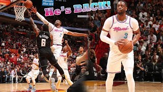 Dwyane Wade ENDS Miami's 5 Game Losing Streak With GAME SAVING BLOCK!! Heat vs Bucks!