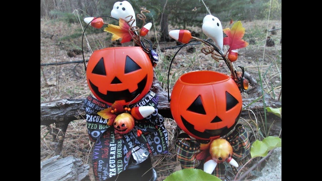 Mini Jack-o-Lantern Candy Bucket Decoration ~ Featuring ...
