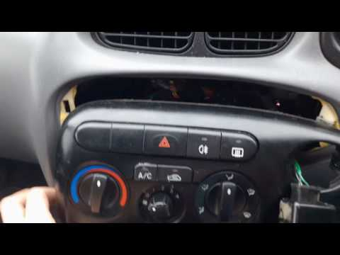 How to remove centre dash and access radio Hyundai Lantra 2000