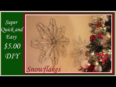 Dollar Tree DIY - Sparkle Hanger Snowflake - Glam Christmas Decor