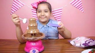 لعبة نافورة الشوكلاتة الحقيقية للأطفال ! العاب طبخ بنات ! chocolate fountain