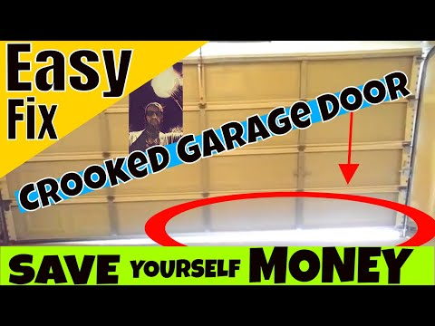 Garage Door Crooked And The Cable Came Off? Easy Fix In 5 Minutes!