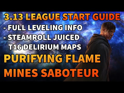 Purifying Flame Mines Saboteur - Screenwide Destruction - League Start Guide - Path of Exile: 3.13