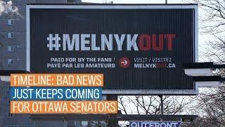 Timeline: Bad news just keeps coming for Ottawa Senators