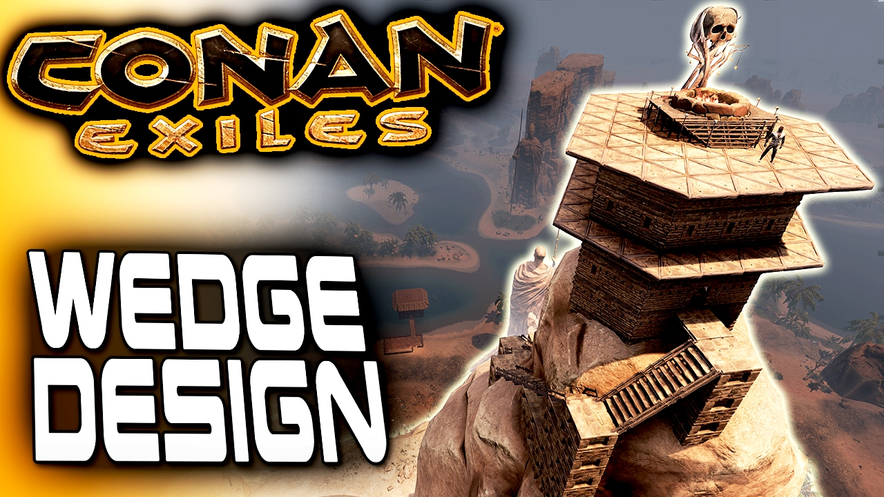 Wedge Design Conan Exiles Base Building Observatory Of Yog Conan Exiles Gameplay Youtube