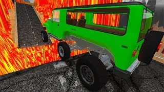 Beamng Drive - Open Bridge Jumping Car Crashes & Car Accidents  | BeamNG-Destruction