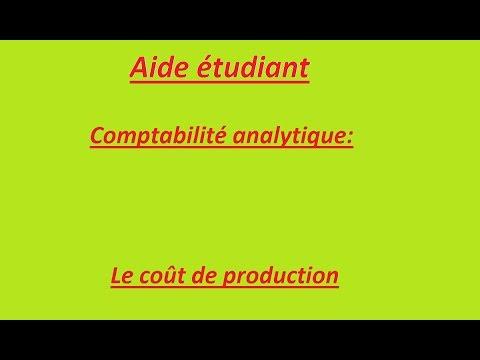 comptabilité analytique: coût de production