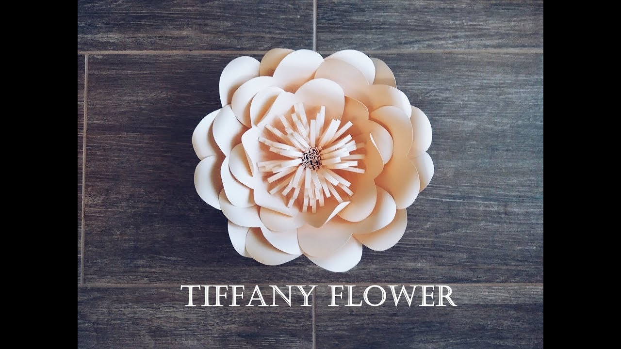Diy Paper Flower Tutorial Tiffany Flower