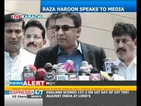 MQM will not accept commissionerate system: MQM leader Raza Haroon