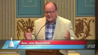 Sen. Runestad urges passage of Unlock Michigan initiative