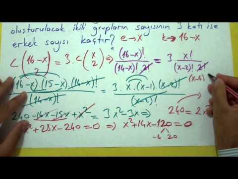 Kombinasyon Şenol Hoca Matematik