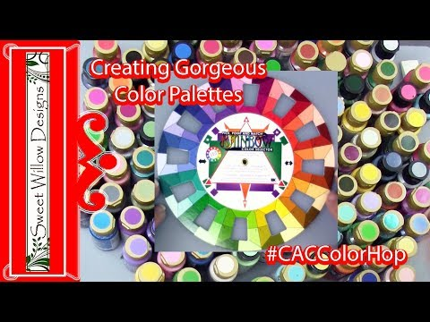 Choosing Gorgeous Color Palettes Mandala Dot Painting #060 #CACColorHop