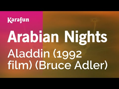 Karaoke Arabian Nights  Aladdin *