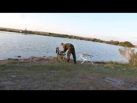 Караганда.Ловля карася на Голубых прудах