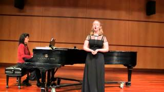 "Sarah Aaldering: ""How Should I Your True Love Know"" 2015 NATS National Student Auditions"