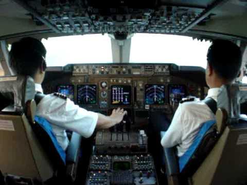 B744 AMS take-off