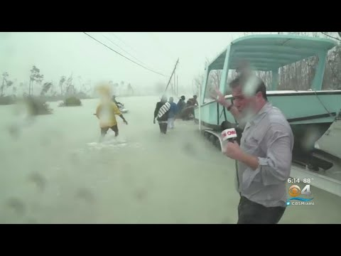 News Crew Captures Rescue From Hurricane Dorian Flooding In Bahamas