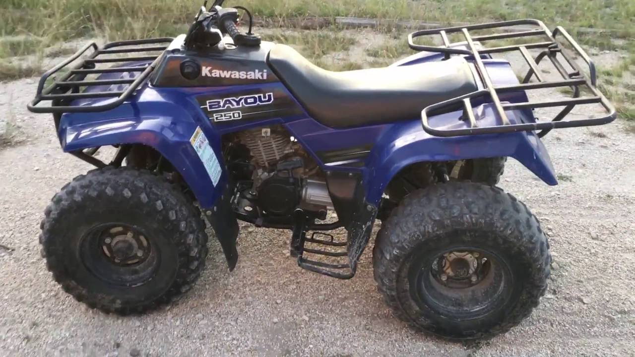 kawasaki bayou 250 mini review - youtube